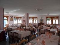 La sala da pranzo dell'albergo Speranza