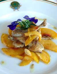 La raffinata cucina del ristorante dell'Hotel Gaarten