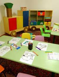 La sala giochi per i bambini