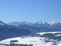 Vista invernale dall'Hotel Al Bosco