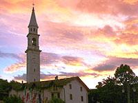La Piazza di Roana al tramonto