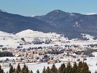 Panorama invernale dell'Altopiano di Asiago
