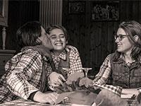 famiglia col del vento