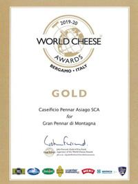 Premio World Cheese Awards Gran Pennar di Montagna