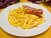 wurstel e patate