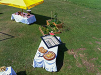 tavoli buffet esterno ristorante