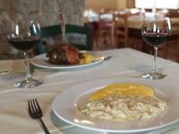 Baccalà alla vicentina con polenta al Rifugio Campolongo