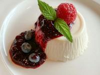 Budino allo yogurt con frutti di bosco