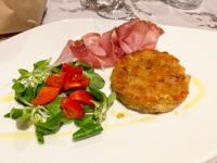 Tortino di patate, specke e insalatina
