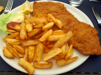 Milanese xxl con patate fritte