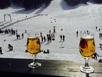 birra in rifugio biancoia