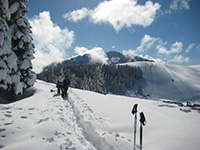 durante la ciaspolata ski area val formica