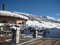 terrazzo legno skia area