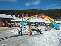 Campomulo parco giochi sulla neve ingresso