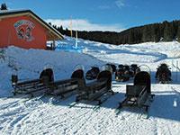 campomulo parco giochi sulla neve slitte motoslitte retro