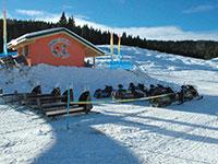 Campomulo parco giochi sulla neve slitte motoslitte
