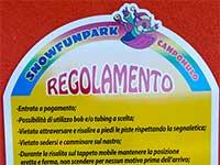 regolamento snowfunpark