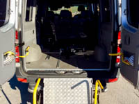 Rampa disabili posteriore Taxi Asiago